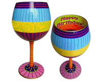 IB Wine Glass Happy Birthday (IBWHAPPY)