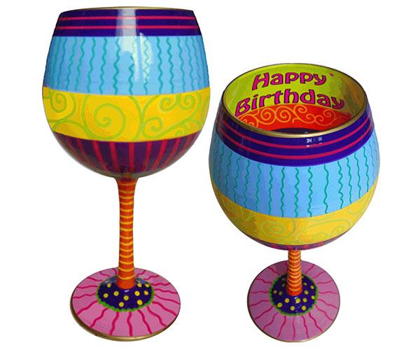 IB Wine Glass Happy Birthday (IBWHAPPY)