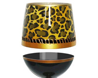 Stemless Wine Glass Deco Leopard Bottom's Up-SLDECOLEOPARD
