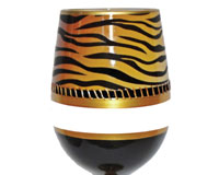 Stemless Wine Glass Deco Tiger Bottom's Up SLDECOTIGER