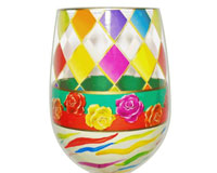Stemless Wine Glass Diamonds Bottom's Up-SLDIAMONDS