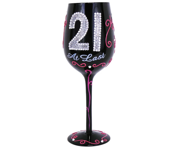 Wine Glass 21 At Last WG21ATLAST'