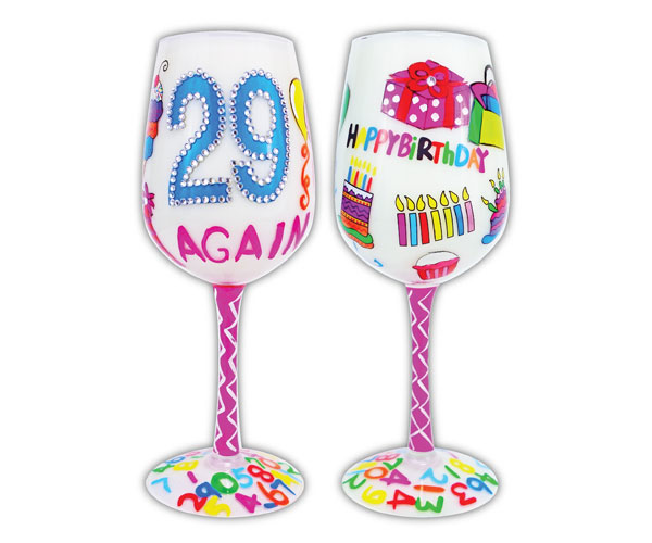Wine Glass, 29 Again (WG29AGAIN)