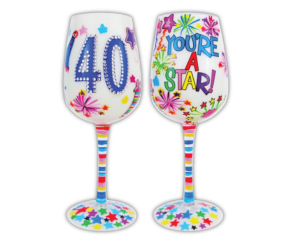 Wine Glass, 40 You're A Star WG40YOURESTAR'