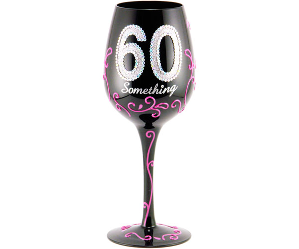 Wine Glass 60 Something WG60SOMETHING'