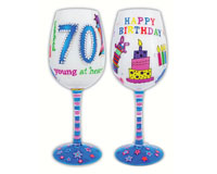 Wine Glass Young at Heart WG70BIRTHDAY