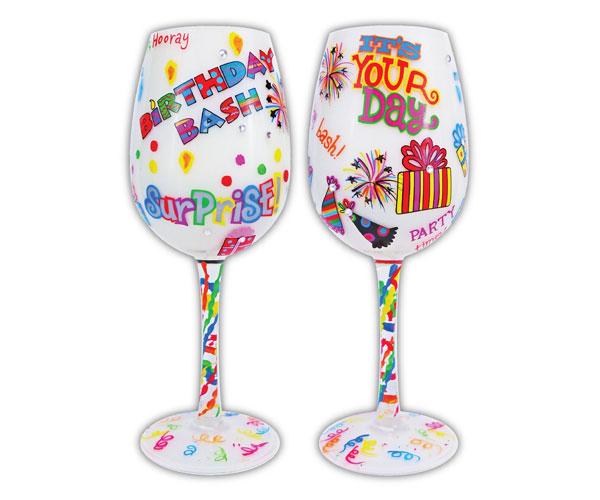 Wine Glass, Birthday Bash WGBIRTHDAYBASH'