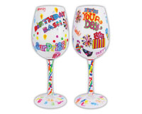 Wine Glass, Birthday Bash WGBIRTHDAYBASH