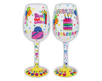 Wine Glass Blow Out the Candles WGBLOWOUTTHECAN