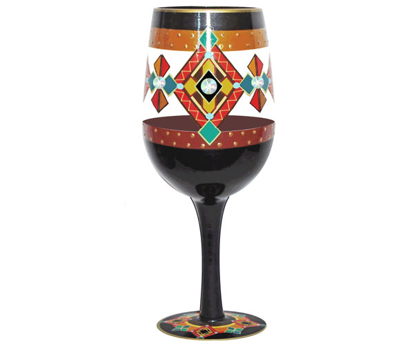 Wine Glass Black Southwest Bottom