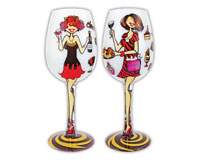 Wine Glass, Chocolate and Wine WGCHOCOLATEWINE