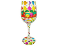 Wine Glass Diamonds Bottom