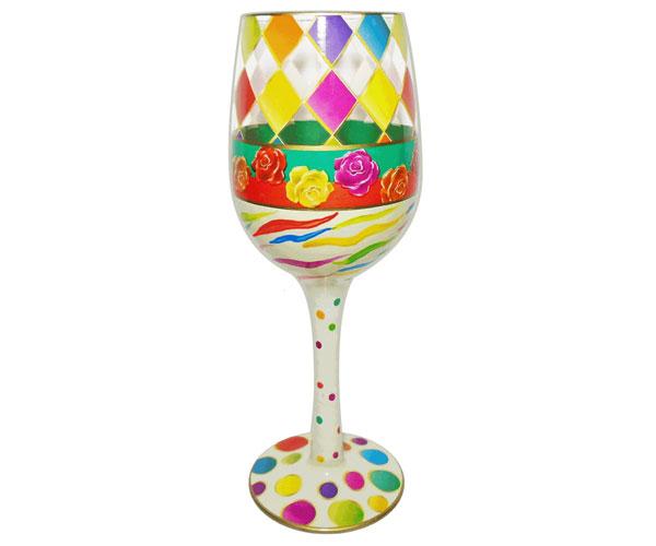 Wine Glass Diamonds Bottom