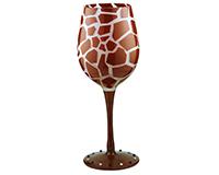 Giraffe Wine Glass WGGIRAFFE