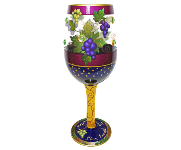 Wine Glass Live, Laugh, Love, Wine Bottom