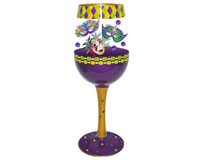 Wine Glass Mardi Gras Deux Bottom