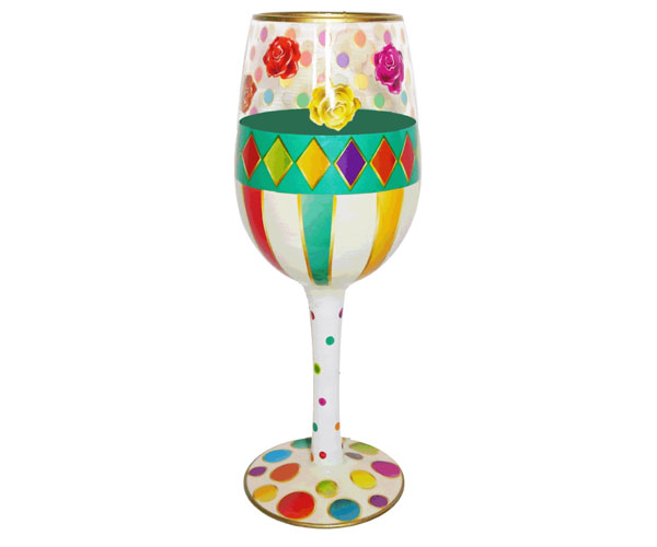 Wine Glass Roses Bottom