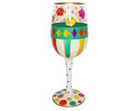 Wine Glass Roses Bottom's Up WGROSES