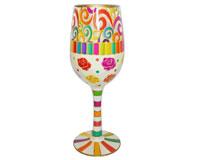 Wine Glass Scrolls Bottom