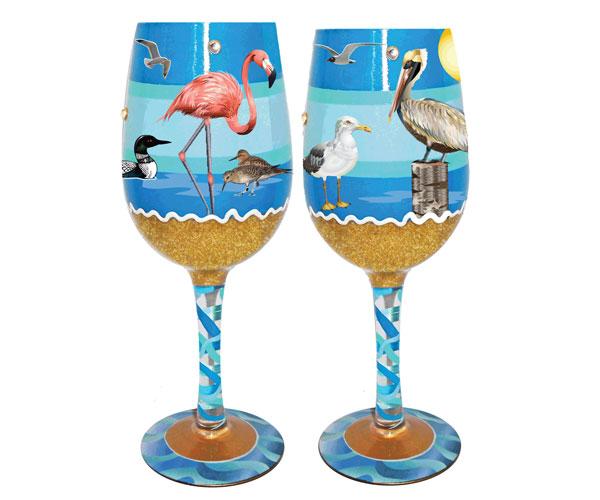 Wine Glass Seaside Bottom