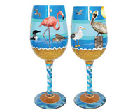 Wine Glass Seaside Bottom's Up WGSEASIDE