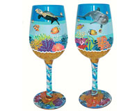 Wine Glass Underwater Bottom