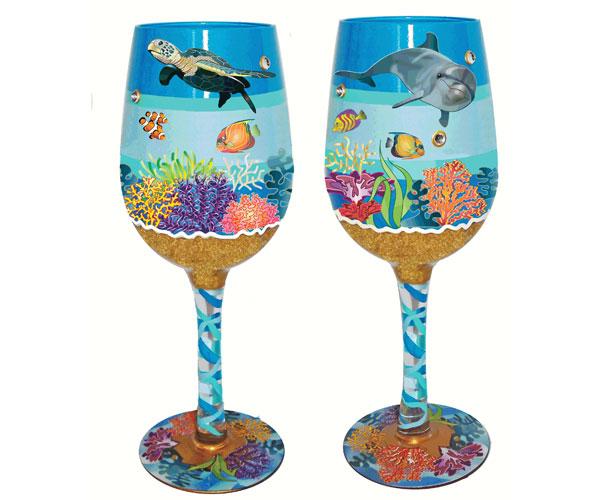Wine Glass Underwater Bottom