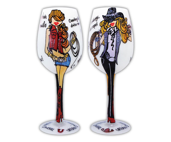Wine Glass Urban Cowgirls (WGURBANCOWGIRLS)