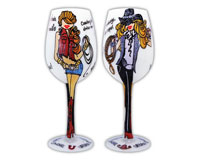 Wine Glass Urban Cowgirls WGURBANCOWGIRLS