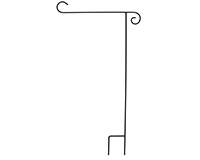Wrought Iron Flag Stand-BLA00003