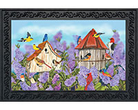 Birds and Lilacs Doormat-BLD00343
