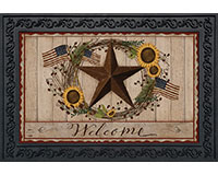 Autumn Welcome Barnstar Doormat-BLD00498