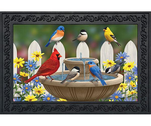 Bird Bath Gathering Doormat