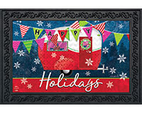 Happy Holidays Camper Doormat-BLD00693