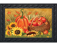 Pumpkin and Apples Doormat-BLD00707