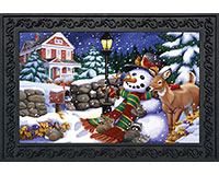 Snowfall Gathering Doormat-BLD00900