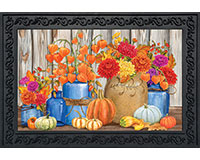 Fall Mason Jars Doormat-BLD00948