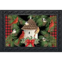 Holiday Bird Gathering Doormat-BLD01352