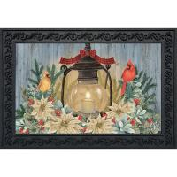 Warm Winter Candle Doormat-BLD01662