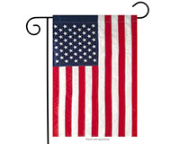 Embroidered American Flag Garden Flag-BLG00018