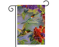 Hummingbirds Garden Flag-BLG00029