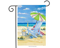 5 O'clock Beach Garden Flag-BLG00165