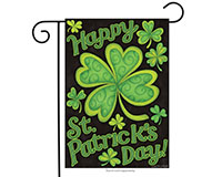 Happy St. Patrick's Day Garden Flag-BLG00300