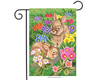 Bunny Friends Garden Flag-BLG00312