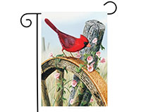 Cardinal Morning Glory Garden Flag-BLG00319