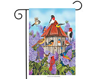 Birds and Lilacs Garden Flag-BLG00343