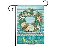 Coastal Wreath Garden Flag-BLG00383