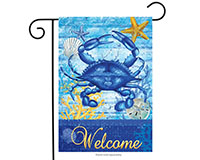 Blue Crab Welcome Garden Flag-BLG00386
