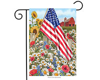America the Beautiful Garden Flag-BLG00387