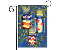 Patriotic Luminaries Garden Flag-BLG00388